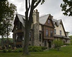 Stone and Tudor Home