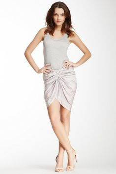 See by Chloe Ruched Front Printed Skirt