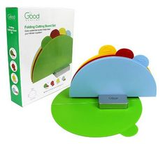 Folding Cutting Boards GOOD COOKING FOLDING CUTTING BOARDS SET OF 4 ON SALE $15.95 ~ CHOP, FOLD, POUR FOODS EASILY!
