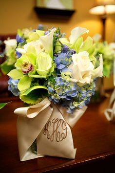 pretty flowers and ribbon