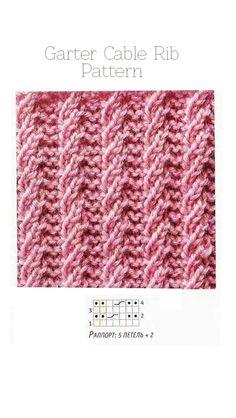 Вязание спицами вертикальные резинки