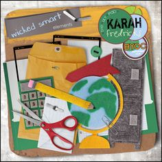 Wicked Smart - back to school elements by Karah Fredricks ... Digital Scrapbooking