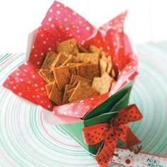 Cracker Recipes from Taste of Home, including Chardonnay Crackers Recipe