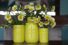 painted mason jars- great summer decoration