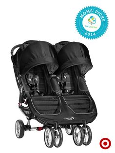 Take Baby anywhere in the quick-fold Baby Jogger City Mini Double stroller, a BabyCenter Top Pick.