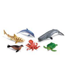 Jumbo Ocean Animal Figurine Set | something special every day