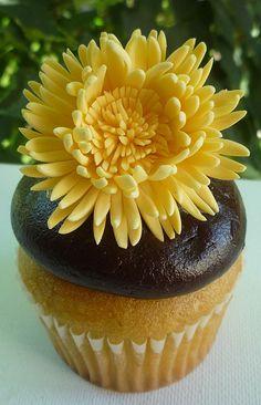 Yellow gum paste chrysanthemum