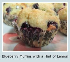 Blueberry Muffins with a Hint of Lemon