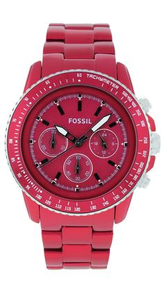 Red-Fossil Women's Watch.