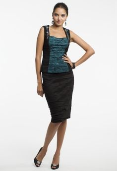 Taffeta Pleated Top with Open Back from Camille La Vie and Group USA