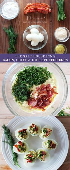 Bacon, Chive and Dill Stuffed Eggs