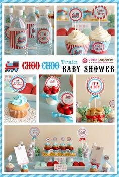 Vintage Choo-Choo Train Baby Shower