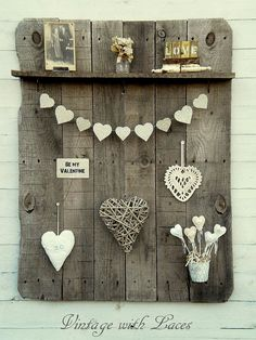 pallet idea, heart, fall, valentine decorations, pallets, valentin decor, diy, wood project, pallet wood