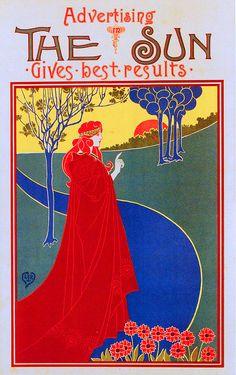 1896 Ad for The Sun, Louis Rhead