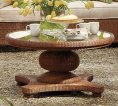 Decorating a Round Coffee Table | Restyling Home by Kelly