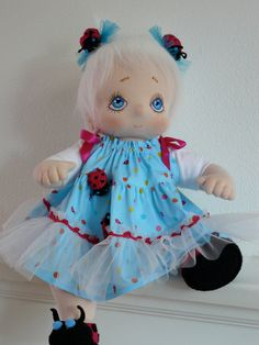 Geertje a Handcrafted Soft Cloth Baby Doll to Play by PopVanStof, $180.00