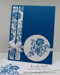 Easy card stamping all stamped  with 1 image
