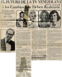 El futuro y los cambios en la Tv venezolana. Publicado el 3 de agosto de 1973.