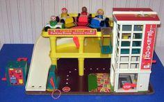 80's toy garage.Little People.. played for hours with too!  April.Lentkowski, Origami Owl Independent Designer 40135. visit my Facebook at www.facebook.com/OrigamiOwlAprilSki and shop from aprilski.origamiowl.com