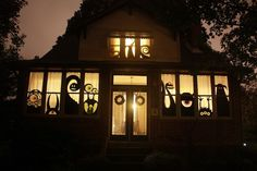 Halloween window monsters SO going to do it
