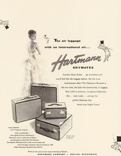 The air luggage with an international air, c. 1955