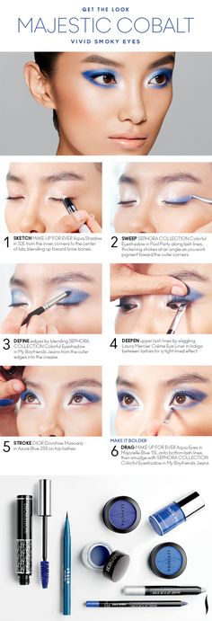 Get the Look: Majestic Cobalt Vivid Smoky Eyes HOW TO #COLORVISION #MajesticCobalt #Sephora  #SephoraSweeps