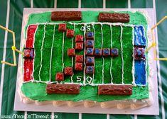 NFL Party & Football Field Cake | MomOnTimeout.com Go #49ers! #Football
