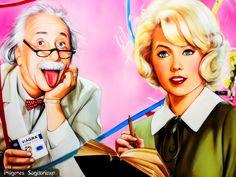 Albert Einstein y Stella Stevens | Wallpaper pin-up