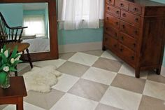 Add a little personality to a room for a small price with a checkerboard paint pattern.   Photo: Kolin Smith   thisoldhouse.com