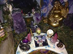 Meditation room for fairies By; Tracy Nicolaus Batty