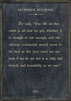 """Frederick Buechner  """"One life on this earth is all that we get…""""  Book Collection – Sugarboo & Co"""