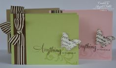 Cute simple cards with 3/2012 Stamp of the Month by Angela Tutton