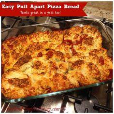 foodpul apart, cook, favorit recip, pizzas, breads, yummi, pull apart pizza bread, pizza dough, easi pull