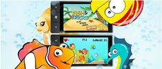 Fish & Tricks - game for #WindowsPhone. Fish & Tricks is a great cartoon style physics game! Control your fish by moving your phone. The fish grows up by eating smaller fish and  catching bubbles.       Keep away from bigger ones and avoid sharks! Your main task is to clean the ocean. There is a lot of different garbage, cans and papers - collect them and get poinst. www.jojomobile.eu