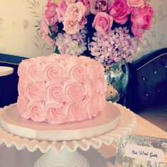 cupcak, pink roses, pink cakes, flower cakes, red velvet, baby girl shower, rose cake, bridal shower cakes, bridal showers
