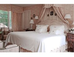 Pink bedroom by designer Rob Southern