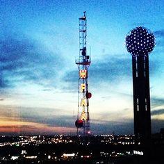 "Wanna visit Dallas someday :) ""Beautiful! @Kristen Pinkston's photo: Our view from the Omni! @Sara Stec #tshaconvention #dallas #omni"""