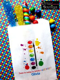 Art Birthday Party Painting Party by LittlebeaneBoutique on Etsy, via Etsy.