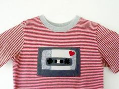 Valentine Tshirt Boys 4T Mixed Tape by TNTees, $17.50