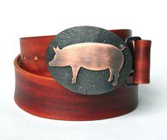 piggi lover, copper, belt buckles, pigs, piggi accessori