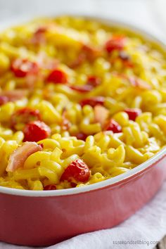 BLT Baked Mac and Cheese - Taste and Tell