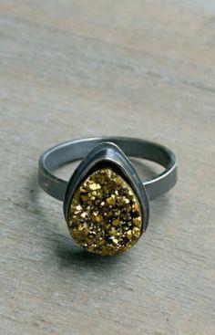 Gold Druzy Ring