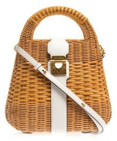 Mark Cross Manray Rattan Wicker Tote: Wicked Good