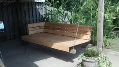Just finished a pallet swing  Love it