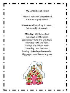onederful my gingerbread house poem more grade december gingerbread ...