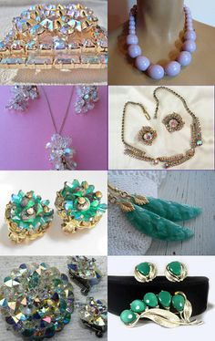 Wow, amazing Vintage Jewelry has just been listed on Etsy! I think your next Aurora Borealis (AB) Necklace & Earring Set is here...