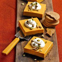 Pumpkin Icebox Pie with Pistachio-Gingersnap Crust Icebox Pie, Pistachiogingersnap Crust, Pumpkin Icebox, Pumpkin Dessert