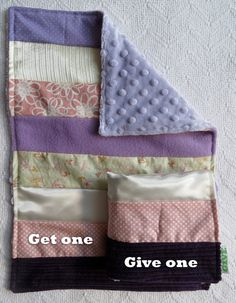 Baby Girl Sensory Security Blanket Lovey - beautiful ballerinas - Get one Give one to babies in Kenya, $30.00