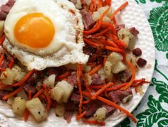Corned Beef Hash with Carrots and Thyme