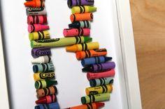 kid bedrooms, crayon letter, playroom art, kid rooms, crayons